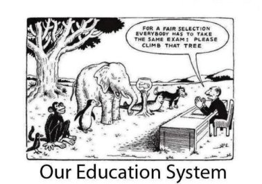 Education system cartoon