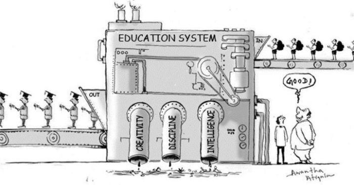 Education system in out cartoon