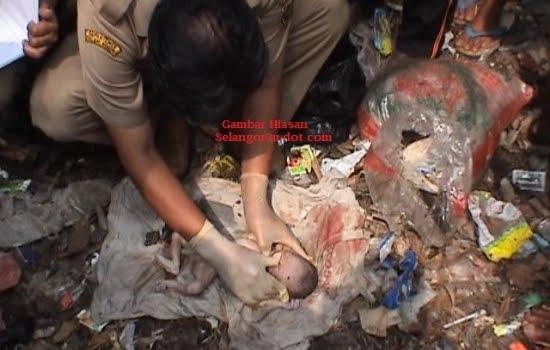 A baby died in dustbin