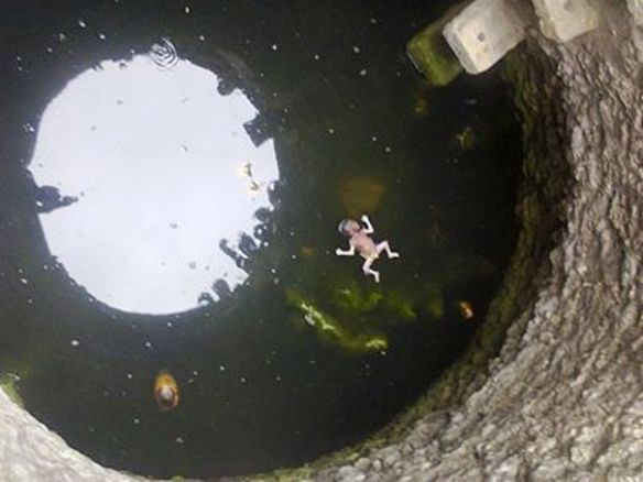 A baby thrown in a well :(