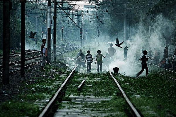 Children-Playing-on-Railway-Track