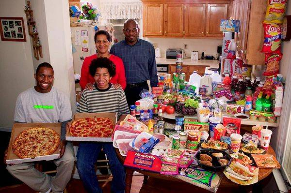 United States, North Carolina The Revis family spends around $342 per week.