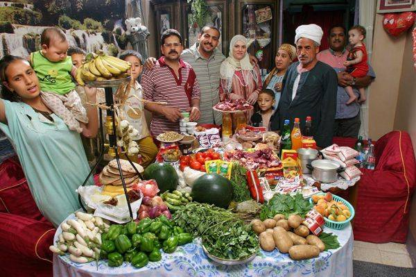 Egypt, Cairo The Ahmed family spends around $78 per week.