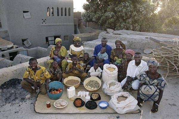 Mali, Kouakourou The Natomo family spends around $30 per week.