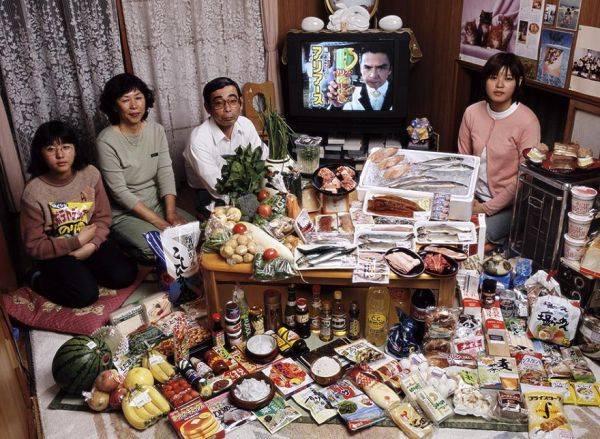 Japan, Kodaira City The Ukita family spends around $361 per week.