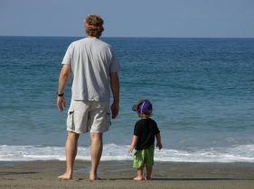 little girl in beach