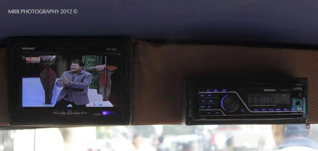 Live Television Channels and F.M System in Anna Durai's Auto , Photo Courtesy : MRR Photography