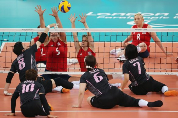 great-britain-plays-japan-in-the-sitting-volleyball-tournament