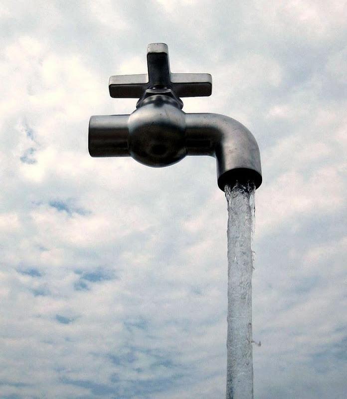 Magic faucet at Aquafest, Grand Bend, Canada.