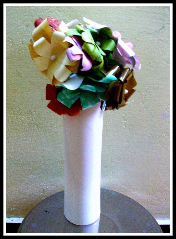 Flower Vase from Cards