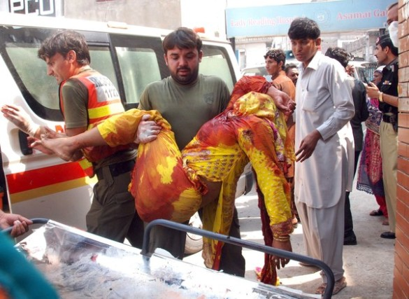 Twin suicide bombing killed at least 45 people at a Church in Peshawar