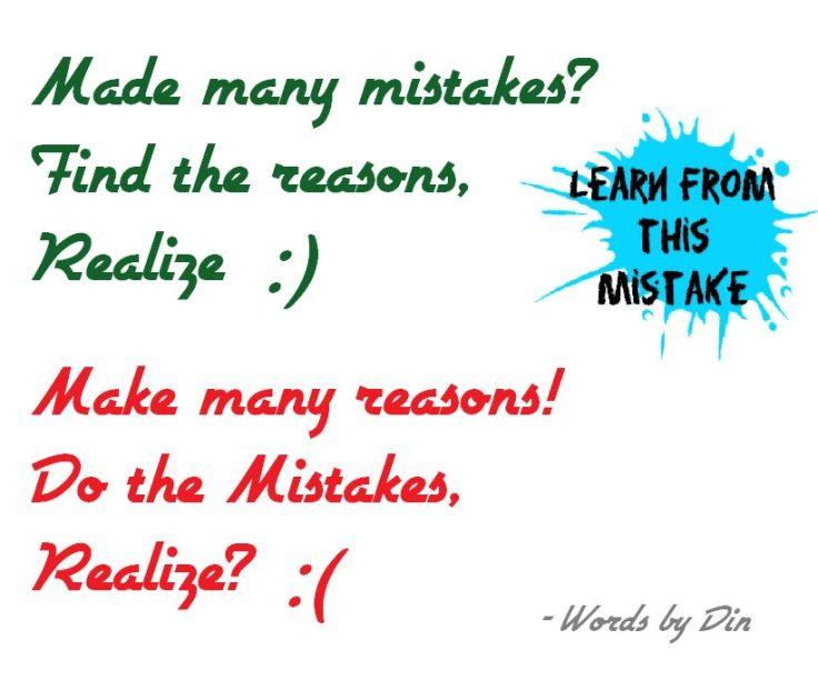Reasoning mistakes