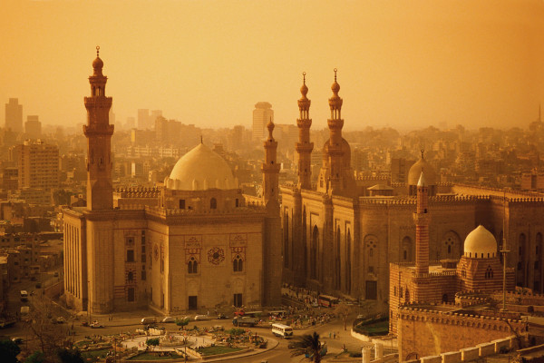 Mosques of Sultan Hasan and al-Rifa'i Seen from the Citadel
