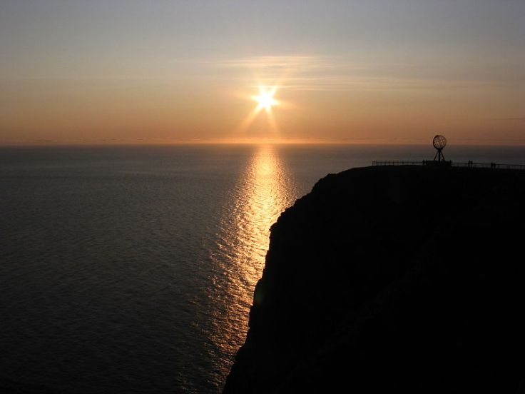 @Mid night, Nordkapp, Norway.