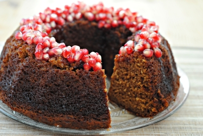 Apple-Cake-Pomegranate