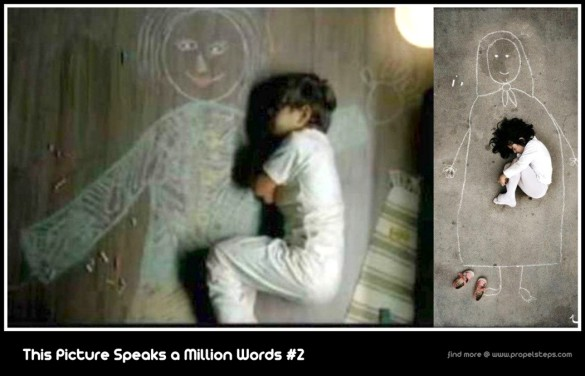 These Kids are said to be Orphans in Iraq, draws mother and sleeps. :'(