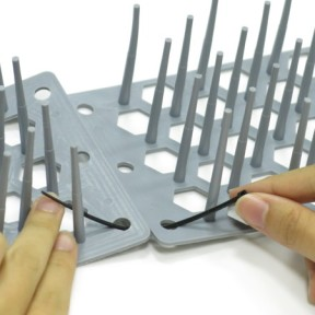 Materials: spiky plastic strips & cable ties