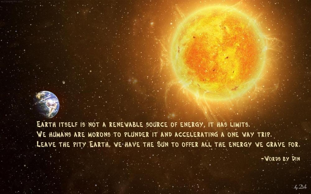 Sun and earth
