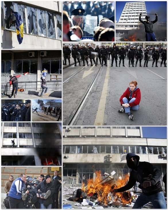 Protests Bosnia