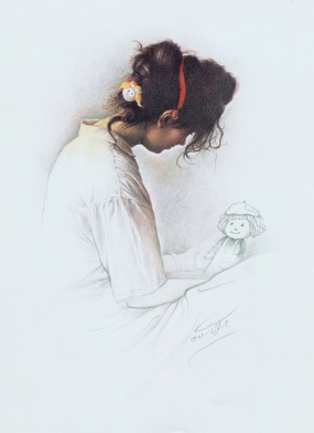 A Girl whit a Doll