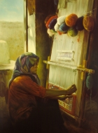 Carpet-Weaving Girl