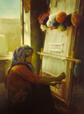 Carpet-Weaving Girl