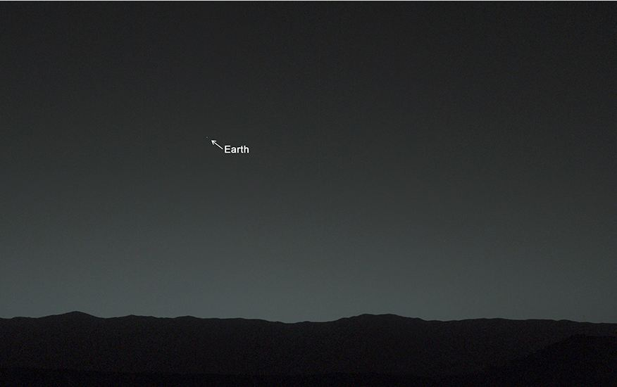 Wow : View of our Earth from the Mars