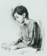 The Boy and Electronic Calculator