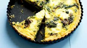 MODERN AUSTRALIAN Fenugreek and ricotta tart