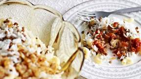 EGYPTIAN Lentils and rice with tomato (koshari)
