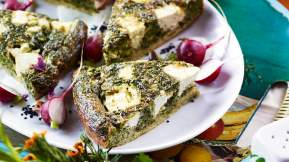 IRANIAN (PERSIAN) Herb and feta oven omelette (kuku)
