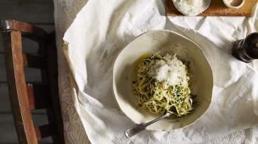 ITALIAN Duck egg tagliolini with nettles and lemon