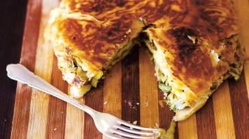 JEWISH Artichoke and olive blini pan pies