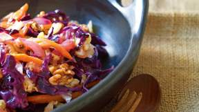 MODERN AUSTRALIAN Braised cabbage and carrots with roasted walnuts