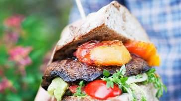 MODERN AUSTRALIAN Portobello peach burgers