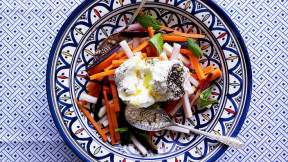 MOROCCAN Carrot salad with labneh