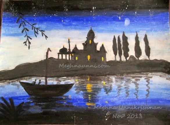 riverside-temple-night-view