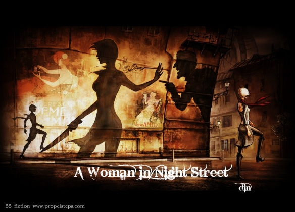 Woman in Night Street