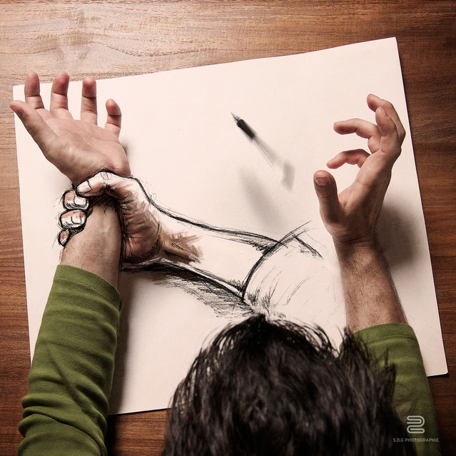 Amazing Arts & Artists : Sketch Photography by Sébastien Del Grosso