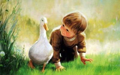 boy-and-duck